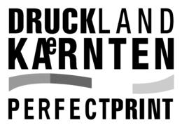 Druckland Kärnten Logo schwarz/weiss