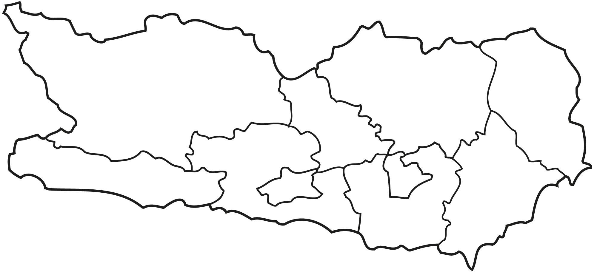 Landkarte von Kärnten
